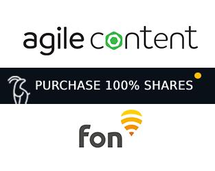 agile content acquires fon